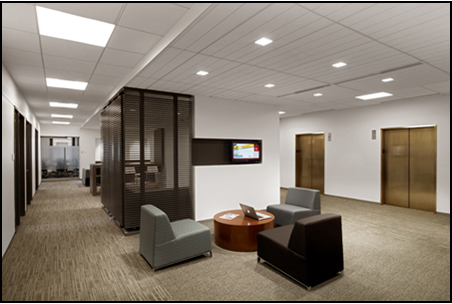 Recently completed corporate office space for Astellas Pharma, U.S., located at 1001 G Street NW in Washington, D.C.